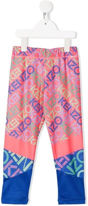 Kenzo contrast logo print leggings