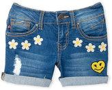 Vigoss Girls 4-6x) Life Is Happy Denim Shorts