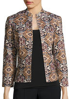 Kasper Suits Metallic Mosaic Jacquard Jacket