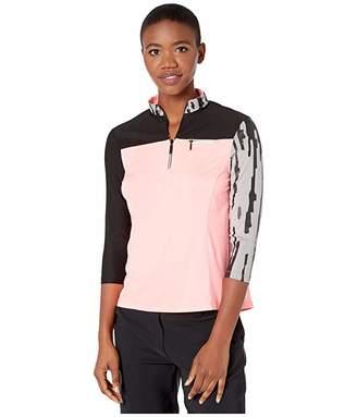 Jamie Sadock 3/4 Sleeve Top (Super Nova) Women's Clothing