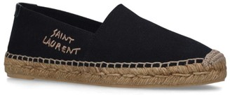 Saint Laurent Logo Embroidered Espadrilles