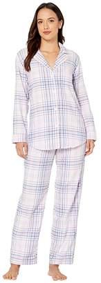 Lauren Ralph Lauren Petite Classic Wovens Long Sleeve Pointed Notch Collar Long Pants Pajama Set