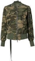 Unravel Project - camouflage bomber jacket - women - Cotton/Polyurethane/Polyacrylic - 40