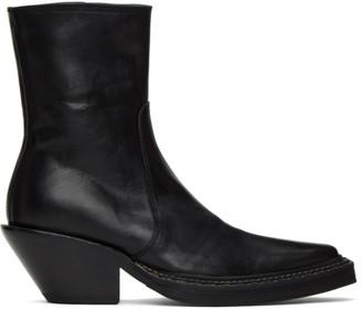 Acne Studios Black Western Heeled Boots