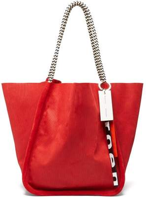 Proenza Schouler Large Corduroy-effect Suede Tote Bag - Womens - Red