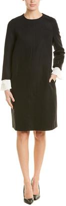 Hone Year Wool-Blend Shift Dress