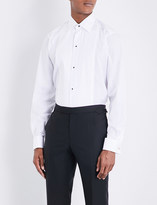 Eton Plissé slim-fit double-cuff cotton shirt