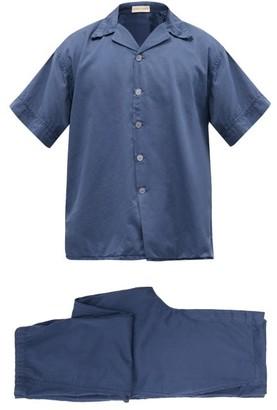 Cleverly Laundry - Superfine Cotton-sateen Pyjama Set - Navy