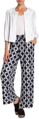 Badgley Mischka Wide Leg Print Pants