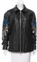 Diesel Black Gold Lace-Up Leather Jacket