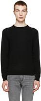 Saint Laurent Black Cashmere Knit Sweater
