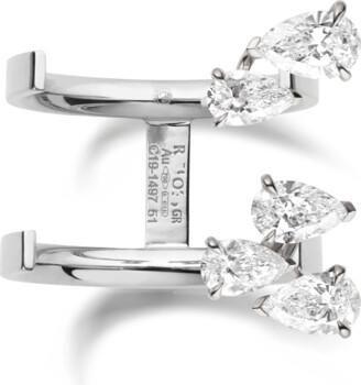 Repossi Serti Sur Vide Pear Diamond Ring