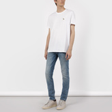 Paul Smith Men's White Zebra Logo Organic-Cotton T-Shirt