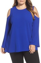 Vince Camuto Plus Size Women's Bell Sleeve Cold Shoulder Blouse
