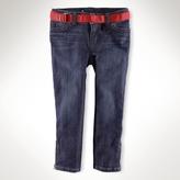 Stretch Matchstick Zipper Jean