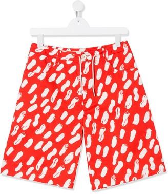 Marni TEEN abstract print shorts