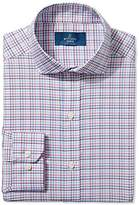 Buttoned Down Men's Fitted Cutaway-Collar Pattern Non-Iron Dress Shirt