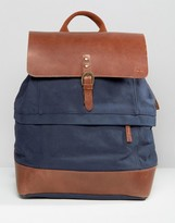 Timberland Leather Trim Backpack Navy