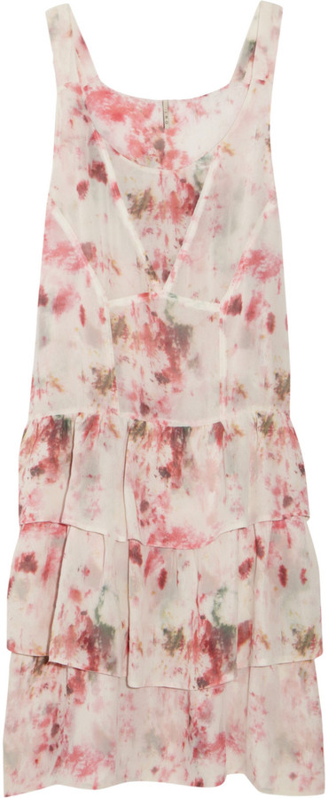 IRO Chiara printed silk-georgette dress