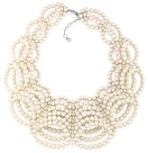 """Carolee Faux Pearl Statement Necklace, 16"""""""
