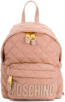 Moschino quilted logo backpack - women - Leather/Polyamide - One Size