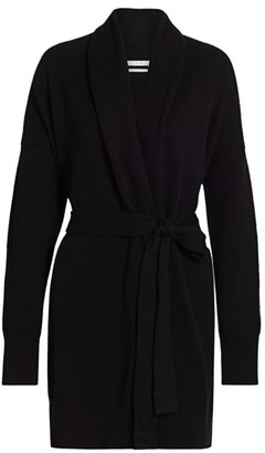 Co Wool & Cashmere Shawl Collar Belted Cardigan