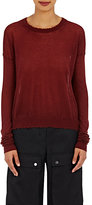 Helmut Lang Women's Frayed-Edge Sweater-BERRY