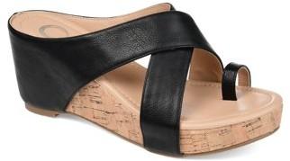 Brinley Co. Womens Crisscross Wedge Sandal