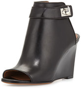 Givenchy Shark-Lock Wedge Bootie, Black