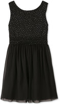 Speechless Glitter-Dot Party Dress, Big Girls (7-16)