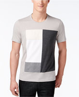 INC International Concepts Men's Faux-Suede Patchwork T-Shirt , Only at Macy's