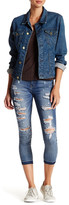 Just USA Distressed Frayed Ankle Jean