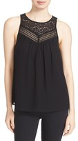 Joie Women's Solara Lace Yoke Sleeveless Top