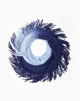Charming charlie Fringed Open Knit Infinity Scarf