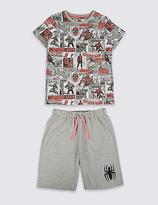 Marks and Spencer Spider-ManTM Short Pyjamas (6-16 Years)