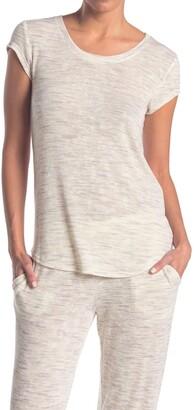 Hue Space Dye Print Scoop Neck Pajama T-Shirt