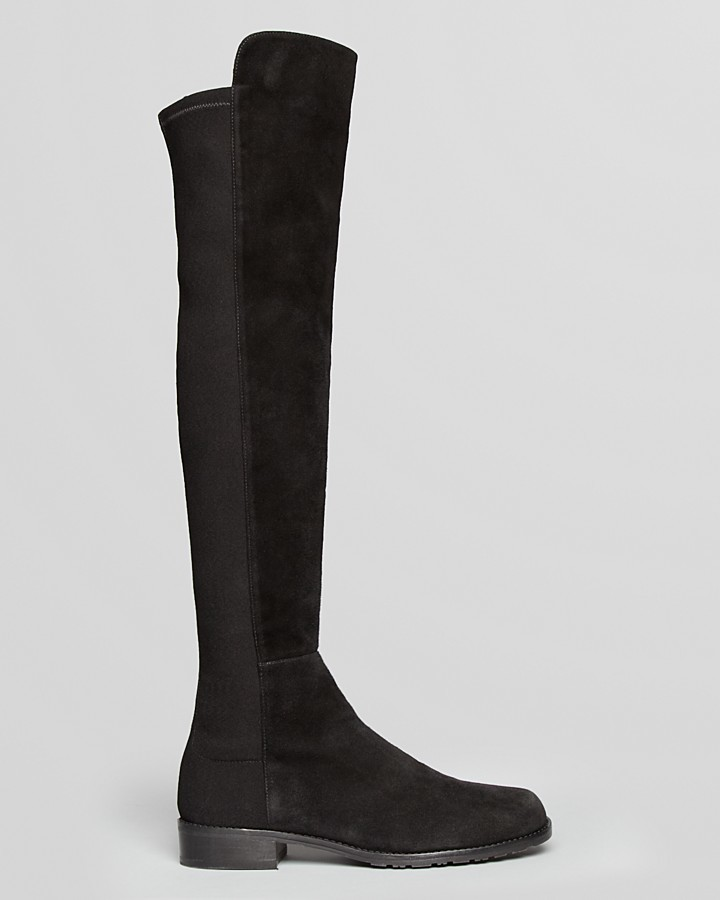 Stuart Weitzman Over The Knee Stretch Suede Tall Boots - 5050