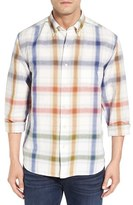 Tommy Bahama Men's Big & Tall 'Chaveta' Regular Fit Check Linen & Cotton Sport Shirt