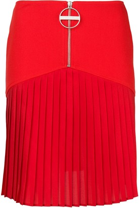 Givenchy Zip Front Pleated Mini Skirt