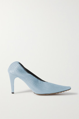 Bottega Veneta Textured-leather Pumps - Light blue