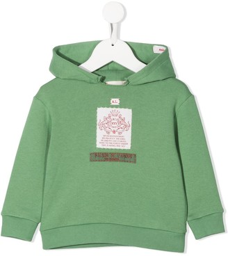 Gucci Kids Logo Patch Detailed Hoodie
