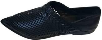 Haider Ackermann Black Leather Flats