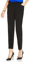 Vince Camuto Straight Leg Front-Zip Ankle Pant