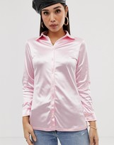 Motel satin fitted shirt