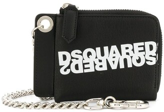 DSQUARED2 Logo Printed Chain Wallet