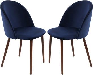 Set Of 2 16 Elliot Way Sedona Velvet Dining Chair