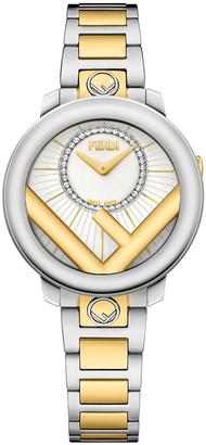 Fendi Men's 28mm Two-Tone Bracelet Watch w/ Diamonds