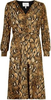Nümph Chai Tea Nusnaxi Jersey Snake Skin Pattern Dress - 7519835 - Chai Tea | large