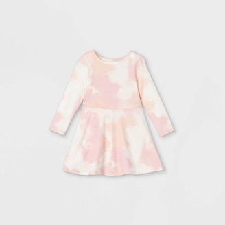 Cat & Jack Toddler Girls' Knit Long Sleeve Dress - Cat & JackTM