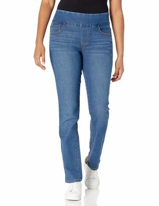 Bandolino Women's Misses Theadora Tummy Toner Pull On Straight Leg Jean